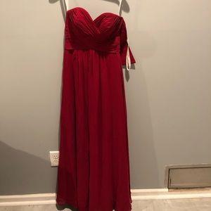 Azazie Corin Burgundy Bridesmaid Dress
